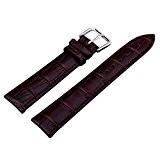 12/14/16/18/20/22/24 mm Bande de montre Bracelet cuir Remplacement Boucle Wrist Watch Deployante brun fonce