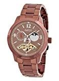 Aatos HamishBrBrBr montre-bracelet pour homme automatique en acier inoxydable plaqué brun