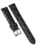 AMPM24 - WB1809 - 18mm - Bracelet de Montre - Cuir PU - Noir - Replacement - Mixte