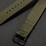 AMPM24 - WB2034 - 20mm - Bracelet - Vert Army - Nylon - Sportive - Pr TIMEX WEEKENDER
