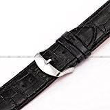 AMPM24 - WB2408 - 24mm - Bracelet - Noir - Cuir PU - remplacement - pour montre Homme/ Femme