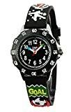 Baby Watch - 3700230605972 - Zap Football Star - Montre Garçon - Quartz Analogique - Cadran Noir - Bracelet Plastique ...