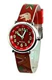 Baby Watch - 3700230606184 - Coffret Bon-Heure Dinosaure - Montre Garçon - Quartz Pédagogique - Cadran Rouge - Bracelet Plastique ...