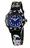 Baby Watch - 606009 - Space - Montre Garçon - Quartz Pédagogique - Cadran Bleu - Bracelet Plastique Noir