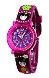 Baby Watch - 606023 - Kyoto - Montre Fille - Pédagogique - Cadran Violet - Bracelet Plastique Violet