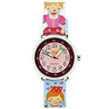 Baby Watch - Coffret Royaume Enchanté - Montre Fille - Montre Pédagogique 4-7 ans - Cadran Rose - Bracelet Plastique ...