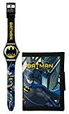 Batman Boy de montre avec cadran noir analogique affichage numérique et sangle en plastique noir bat63dc