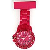 BOXX F043 PINK - Montre Gousset Infirmière, Couleur Rose Vif, avec Lunette Rotative