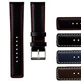 Bracelet de Montre Geckota® en Cuir Véritable, Qualité et Confort, 18mm 20mm 22mm ou 24mm