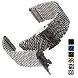 Bracelet de Montre Geckota® Maille Milanaise de Qualité, Classique et Ajustable, 18mm 20mm ou 22mm