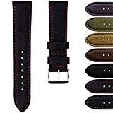 Bracelet de Montre Geckota® Sport en Nylon, Rembourré, Résistant, Qualité et Confort, 20mm ou 22mm