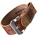 Bracelet de montre ZULUDIVER® cuir véritable USM NATO Marron 22mm