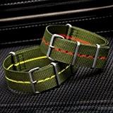 Bracelet de Montre ZULUDIVER® en Nylon, Marine Nationale, Militaire G10 NATO, Résistant et Solide, Qualité et Confort, 20mm ou 22mm