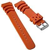 Bracelet de montre ZULUDIVER résine plongée pour Seiko Z20 Monster Orange 20mm