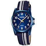 Calypso Montre enfant Junior Collection analogique Quartz cuir textile bleu gris UK5707/7