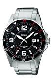 Casio - MTP-1291D-1A1VEF - Montre Homme - Quartz Analogique - Cadran en Noir - Bracelet en Acier - Dateur