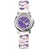 Certus - 647457 - Montre Enfant - Quartz Analogique - Cadran Violet - Bracelet Cuir Blanc
