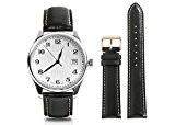 CHIMAERA Australia Remplacement en cuir de veau authentique 18mm 19mm 20mm 21mm Bracelet à bracelet de montre 22mm Bracelet à ...