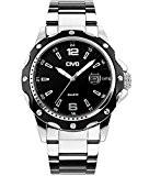 CIVO Hommes Montres à Quartz Analogique avec Bande de Acier Inoxydable Militaire Date Calendrier Montre Bracelet Etanche Mode Classique Décontractée ...