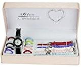 Coffret Cadeau Montre fille cadrans et bracelets interchangeables -