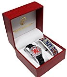 COFFRET MONTRE ENFANT ADO FILLE LONDON LONDRES + BRACELET DRAPEAU ANGLAIS UK STRASS