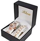 cf6c39819b4 Coffret montre femme perle doré rose + bracelet strass collection dolce vita