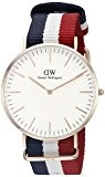 Daniel Wellington - 0103DW - Cambridge - Montre Mixte - Quartz Analogique - Cadran Rose - Bracelet Nylon Multicolore