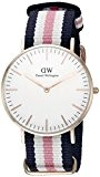 Daniel Wellington - 0506DW - Southampton - Montre Mixte - Quartz Analogique - Cadran Rose - Bracelet Nylon Multicolore