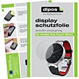 dipos Films de protection d'écran pour Alcatel One Touch Watch (6 unités) - Antireflet mat film de protection d'ecran
