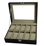 DoubleBlack en Simili cuir Boîte à Montre pour 10 Montres