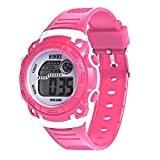 Enfants filles Montre de sport - HONHX Enfants filles numerique quartz conduit montre-bracelet date de l'alarme de sport, Rose
