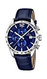 Festina - F16760/3 - Montre Homme - Quartz Analogique - Chronomètre/ Aiguilles lumineuses - Bracelet Cuir Bleu