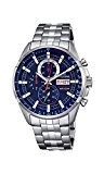 Festina - F6844-3 - Montre Homme - Quartz Chronographe - Cadran Bleu - Bracelet Acier Argent