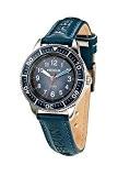 Freegun - EE5181 - Montre Garçon - Quartz Analogique - Cadran Bleu - Bracelet Cuir Bleu