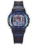 FSX-521B Montres Enfant - Garçons - Quartz - Digitale -Sport Alarme Chronomètre Eclairage (bleu)