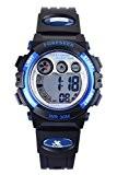 FSX-555 Montres poignet de sport LED pour enfants numériques résistantes à l'eau idéales pour les garçons et les filles (bleu)
