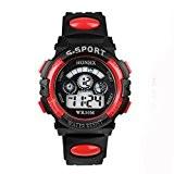 Fulltime® Etanche Boy Enfants Quartz numérique LED Alarm Date poignet montre de sport