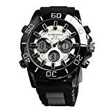 Globenfeld - Montre de sport V12 - édition limitée - boîtier en métal noir/bracelet caoutchouc - homme - garantie 5 ...