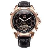 Gute ton or rose bracelet pour homme en acier inoxydable calendrier automatique
