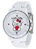Hello Kitty - JHK1004-18 - Obi - Montre Fille - Quartz Analogique - Cadran Multicolore - Bracelet Plastique Blanc