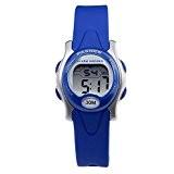 Hiwatch Montre de Sport LED Numérique Étanche Montre-Bracelet pour Garçons et Filles Bambin Bleu