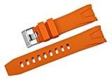 iStrap 22mm Caoutchouc Fin Curved Bracelet de Montre Watch Band pour Omega Seamaster Planet OceanOrange