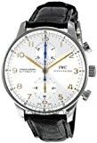 IWC IWC portugaise argent cadran chronographe mécanique Mens Montre 3714–45