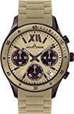 Jacques Lemans - 1-1587S - Montre Femme - Quartz Chronographe - Chronomètre - Bracelet Silicone Beige