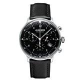 Junkers - 60862 - Montre Homme - Quartz Chronographe - Chronomètre - Bracelet Cuir Noir