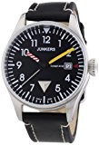 Junkers - 6144-3 - Montre Homme - Quartz Analogique - Aiguilles lumineuses - Bracelet Cuir Noir