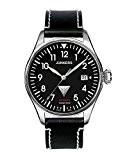 Junkers - 61502 - Montre Homme - Automatique - Analogique - Bracelet Cuir Noir