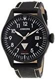 Junkers - 6152-2 - Montre Homme - Automatique - Analogique - Luminescent - Bracelet Cuir Noir