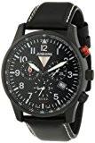 Junkers - 6680-2 - Montre Homme - Quartz Chronographe - Chronomètre/Alarme/Luminescent - Bracelet Cuir Noir