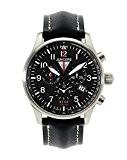 Junkers - 6684-2 - Montre Homme - Quartz - Chronographe - Bracelet cuir